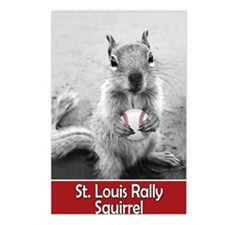 5x3oval_vert_rally-squirr Postcards (Package of 8)
