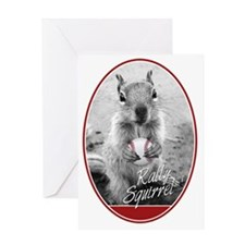 Rally Squirrel Greeting Card