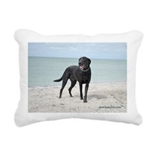 Black Labrador Rectangular Canvas Pillow