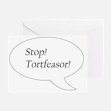 Stop! Tortfeasor! Greeting Card