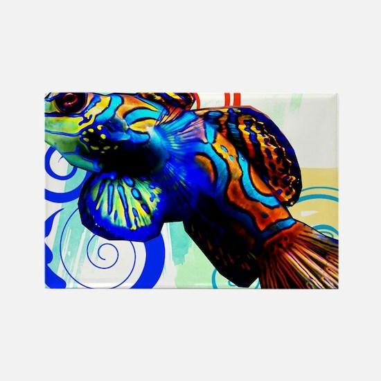 Mandarin Dragonet Rectangle Magnet