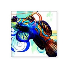 "Mandarin Dragonet Square Sticker 3"" x 3"""