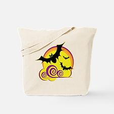 bats-moon-dk Tote Bag