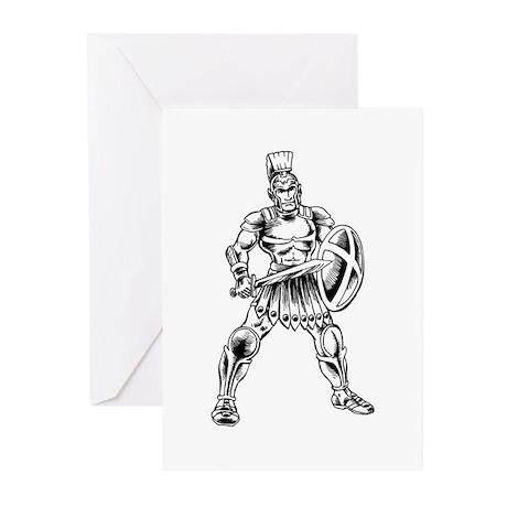 Roman Soldier Greeting Cards Pk Of 10 By Teeshirtfantasy