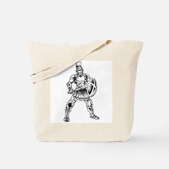 Roman Soldier Tote Bag