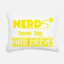 Nerds Have Big Hard Driv Rectangular Canvas Pillow