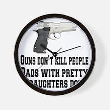 guns and daughters Wall Clock