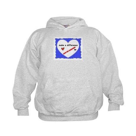 """MAKE A DIFFERENCE """"CARE FOR SOMEONE"""" Kids Hoodie"""