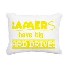 Gamers Have Big Hard Dri Rectangular Canvas Pillow