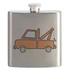 Vintage Tow Truck Flask
