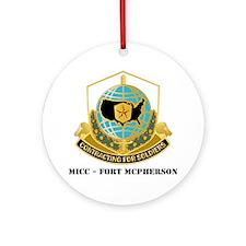 MICC---FORT-MCPHERSONwtext Round Ornament
