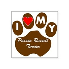 I Heart My Parson Russell Terrier Sticker