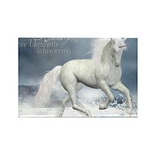 white_unicorn_stadium_blanket_h_f Rectangle Magnet