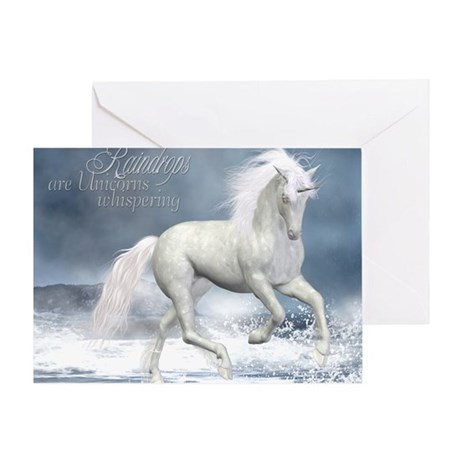 white_unicorn_stadium_blanket_h_fron Greeting Card