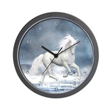 white_unicorn_modern_wall_clock Wall Clock