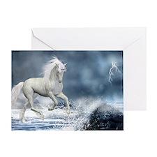 white_unicorn_car_magnet_20_mal_12 Greeting Card