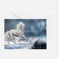 white_unicorn_car_magnet_20_mal_12 Greeting Card
