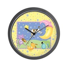 Cute Man in the moon Wall Clock