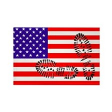 USSA American Police State Rectangle Magnet