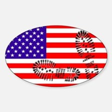 USSA American Police State Oval Decal