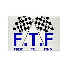FTF B&W Rectangle Magnet