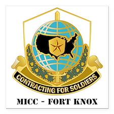 "MICC---FORT-KNOXwtext Square Car Magnet 3"" x 3"""