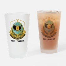 MICC---FORT-DIXwtext Drinking Glass