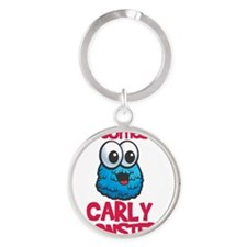 monster_carly Round Keychain