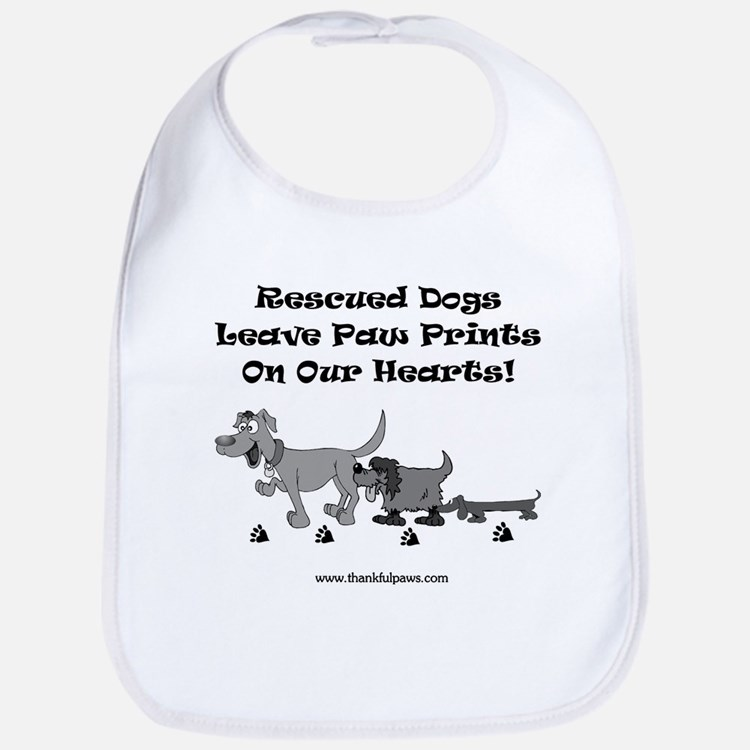 Rescued Dogs Leave Pawprints Bib