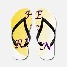He Is Risen Shadow Circle Flip Flops
