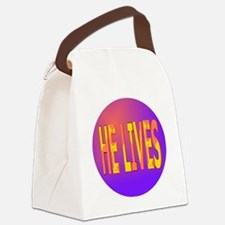 He Lives Circle Canvas Lunch Bag