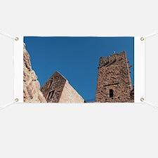 Wertheim. Ruins of the 12th century Hohenbu Banner