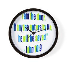 I Am the Door_colored Wall Clock