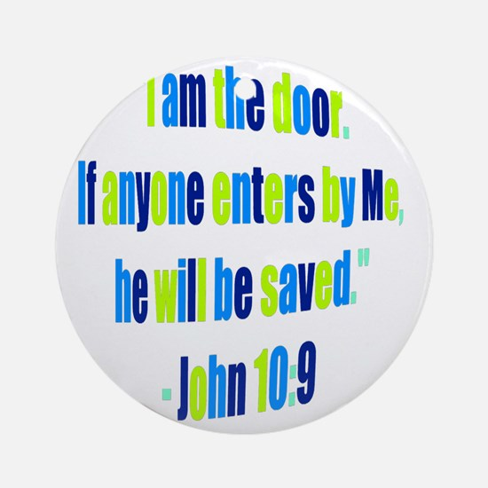 I Am the Door_colored Round Ornament