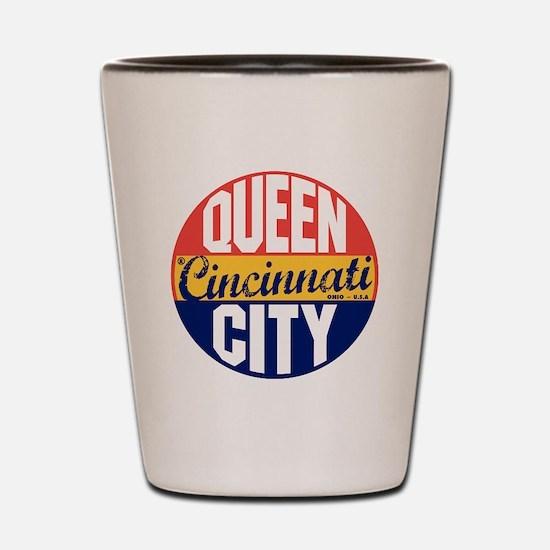 Cincinnati Vintage Label B Shot Glass