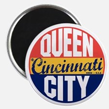 Cincinnati Vintage Label B Magnet
