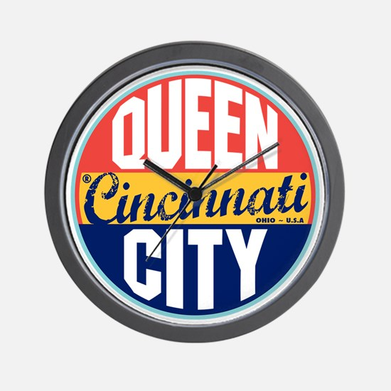 Cincinnati Vintage Label W Wall Clock