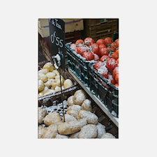 GRENOBLE: Place aux Herbes Produc Rectangle Magnet
