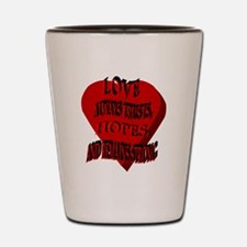 Love Always Heart Shot Glass