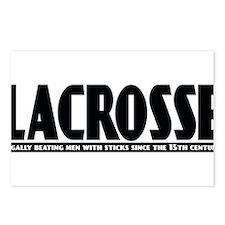Lacrosse Beating People Postcards (Package of 8)