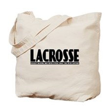 Lacrosse Beating People Tote Bag