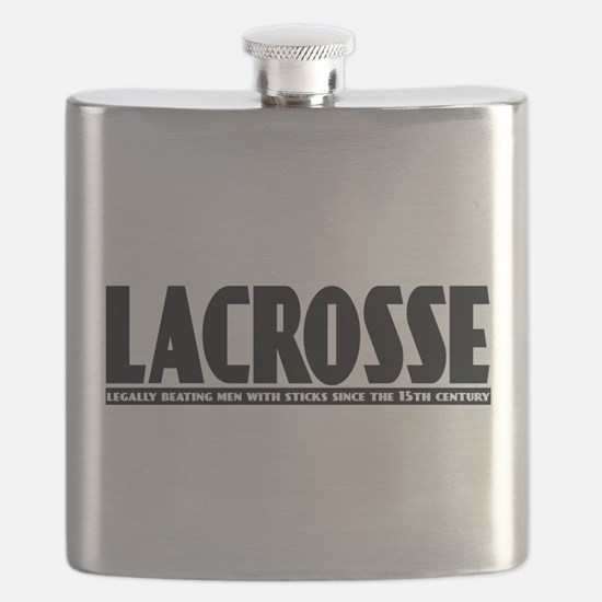 Lacrosse Beating People Flask