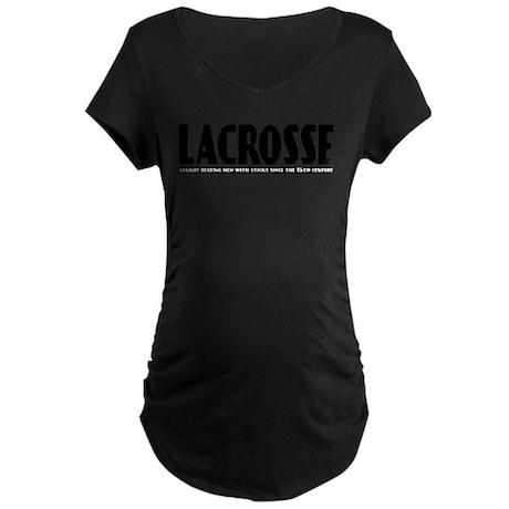 Lacrosse Beating People Maternity Dark T-Shirt
