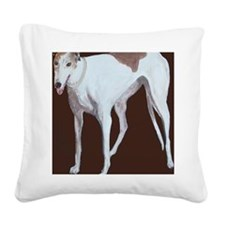 SQ Greyhound Square Canvas Pillow