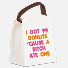 99 Donuts Canvas Lunch Bag