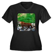 cougtote5 Women's Plus Size Dark V-Neck T-Shirt