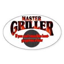 Master Griller Oval Decal