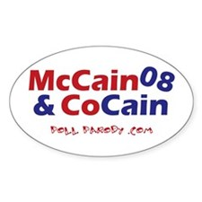 McCain & CoCain Oval Decal