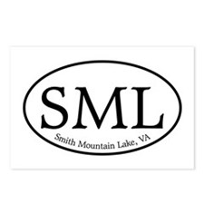SML.ovalother.white Postcards (Package of 8)