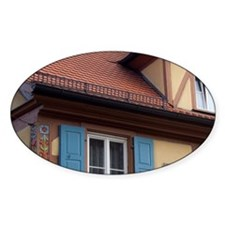 Rothenburg. Colorful half-timbered  Decal